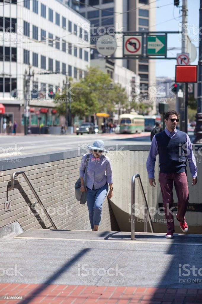 San Francisco Street Life sub stock photo