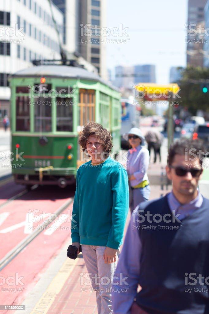 San Francisco Street Life tram stock photo