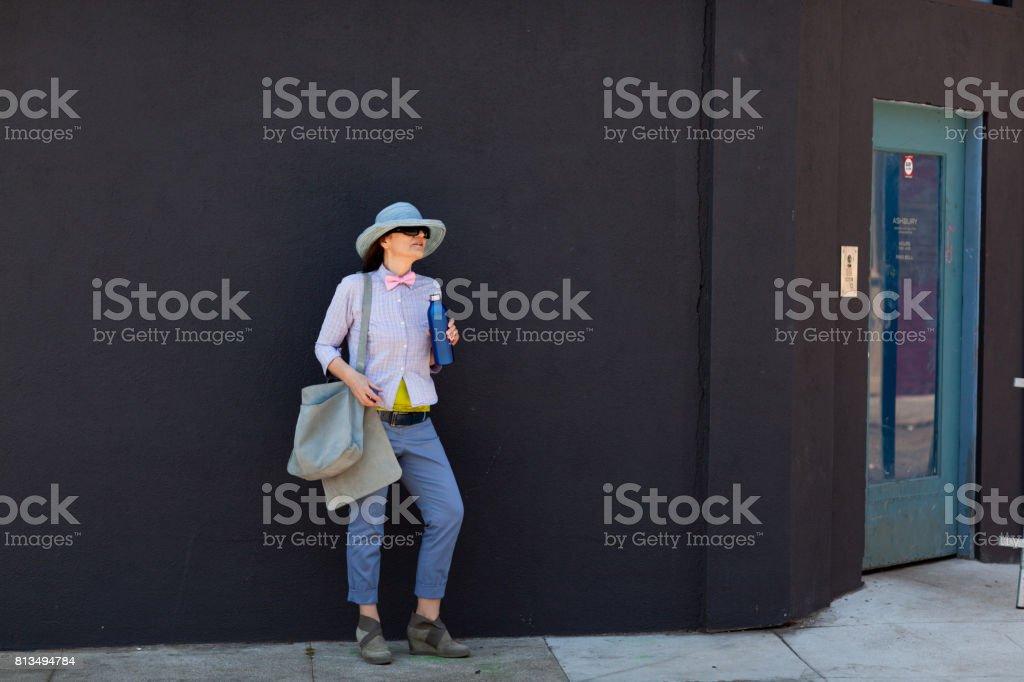 San Francisco Street Life: waiting at the corner stock photo