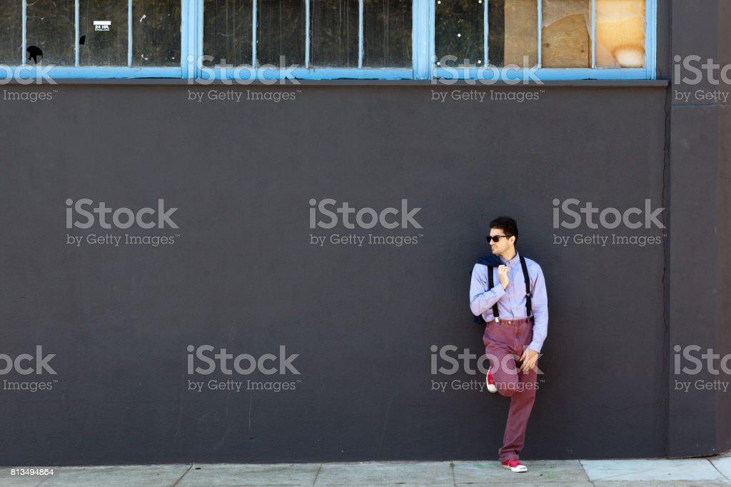 San Francisco Street Life: waiting in the shade stock photo