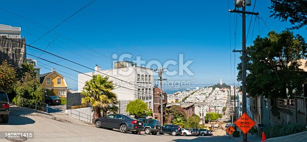 istock San Francisco street scene Pacific Heights Telegraph Hill panorama California 182821415