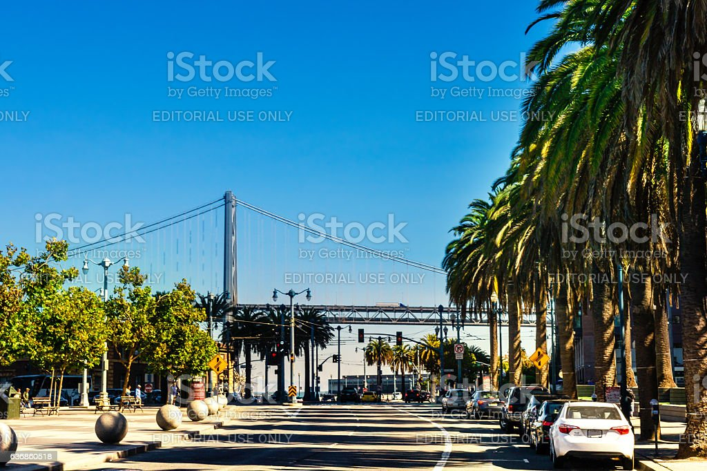 San Francisco Street View From Embarcadero To Oakland Bay Bridge