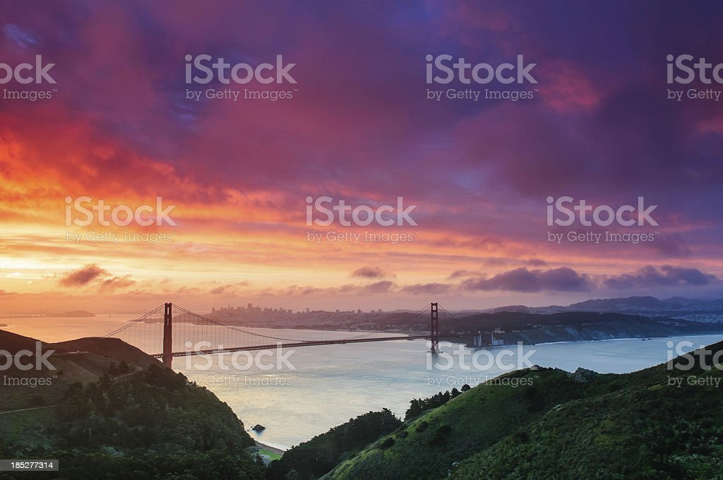 San Francisco Sunrise royalty-free stock photo