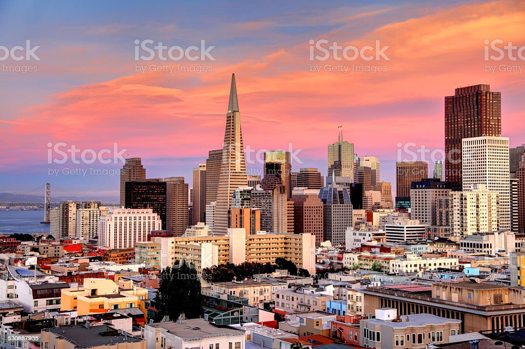 San Francisco Sunset stock photo