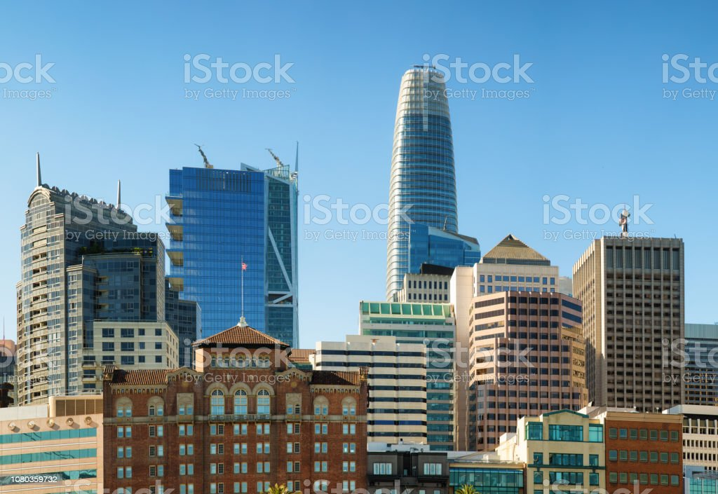 San Francisco The East Cut Financial District Skyline Building Tops