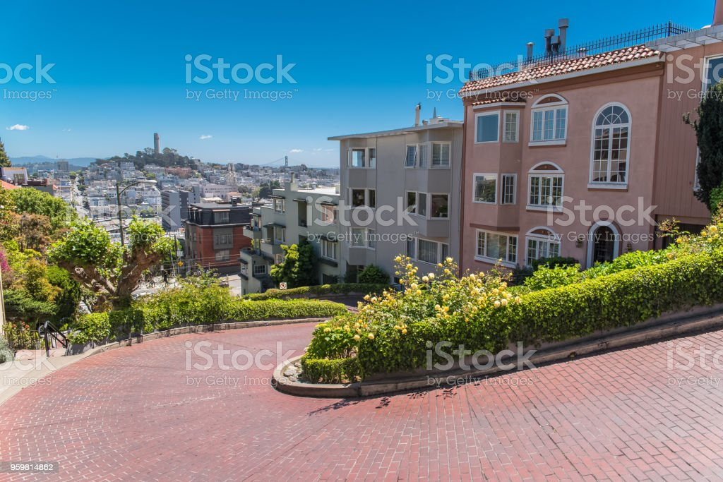 San Francisco, the famous Lombard Street stock photo