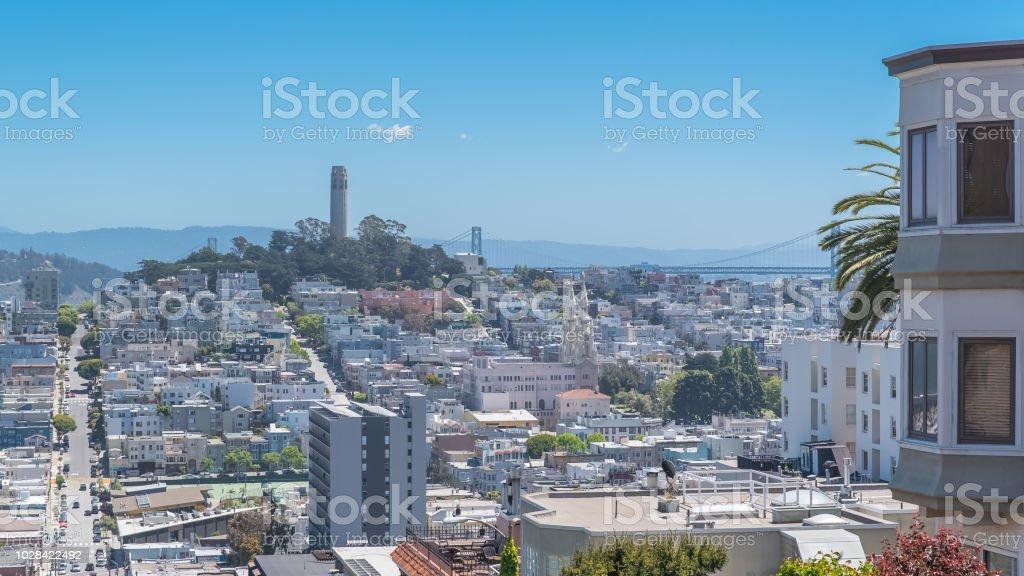 San Francisco, the Lombard Street stock photo