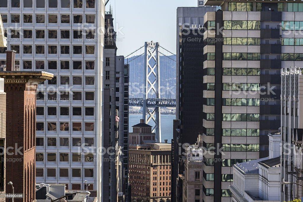 San Francisco Towers and Bay Bridge royalty-free stock photo