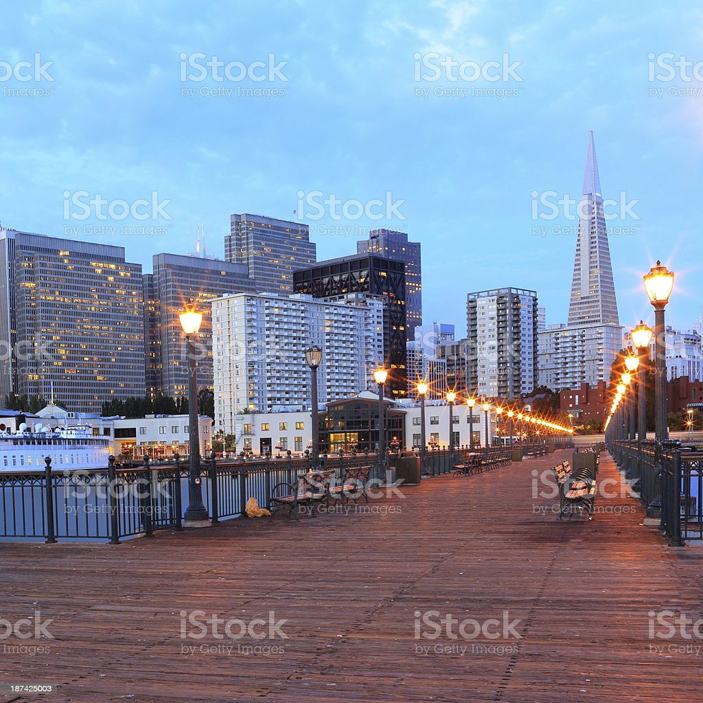 San Francisco: Transamerica  Pyramid and Downtown royalty-free stock photo