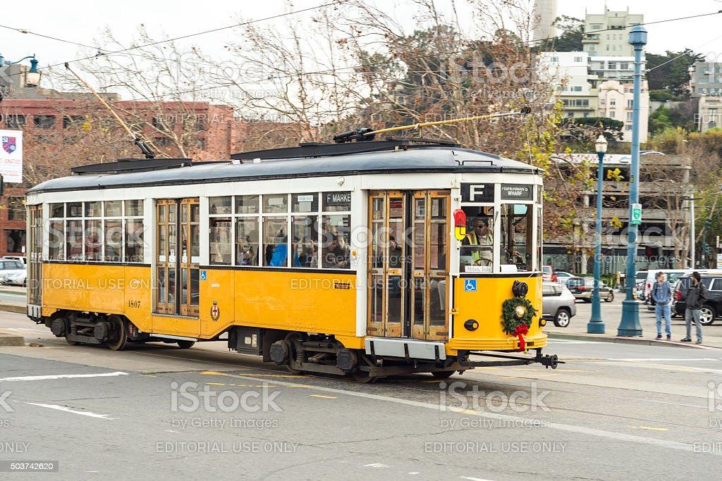 San Francisco trolley bus stock photo