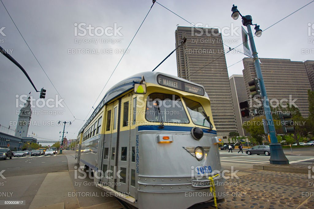 San Francisco trolley car stock photo