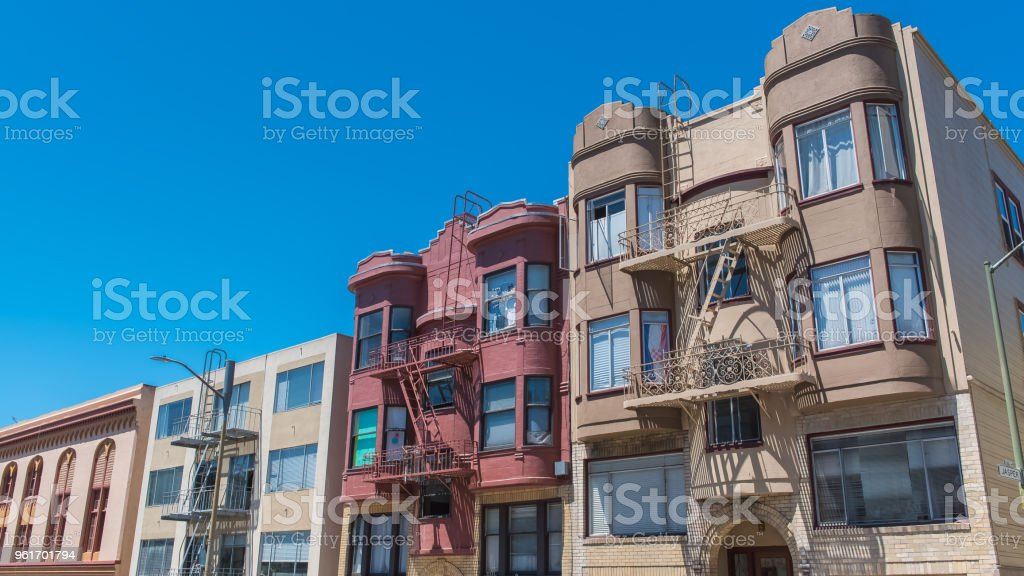 San Francisco, typical houses stock photo