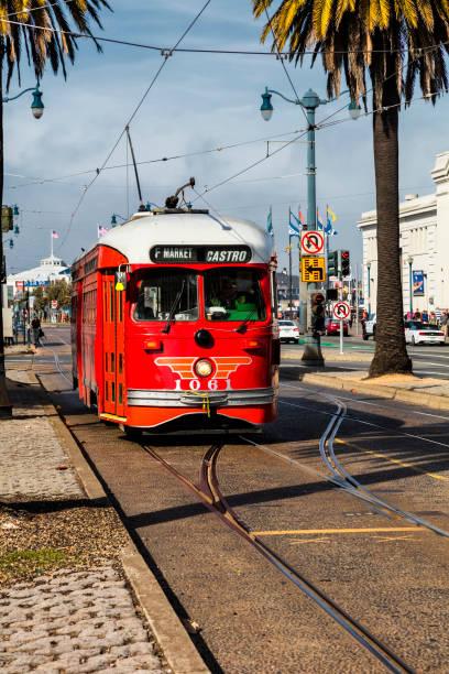 San Francisco, USA, The Cable car tram stock photo