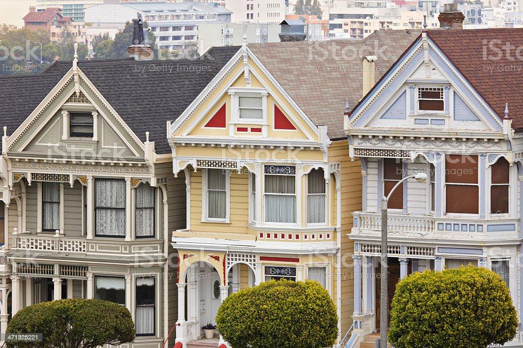 San Francisco Victorian Architecture royalty-free stock photo