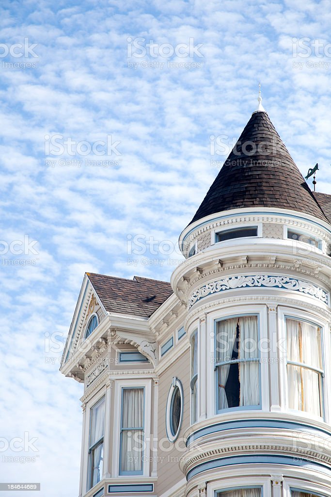 San Francisco Victorian Home stock photo