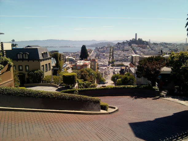 San Francisco view from Lombard Street stock photo