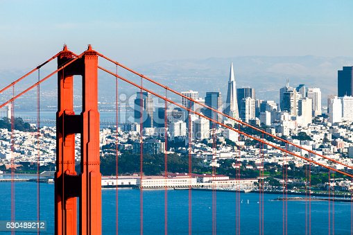 530755444 istock photo San Francisco with the Golden Gate bridge 530489212