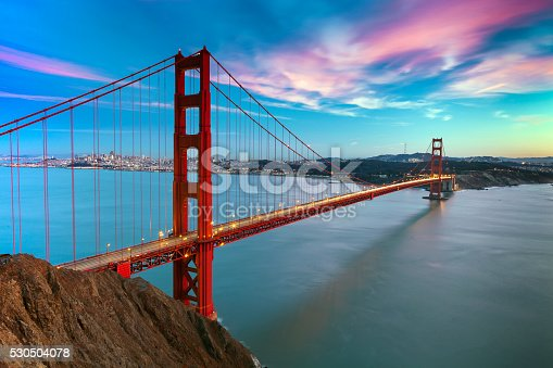 530755444 istock photo San Francisco with the Golden Gate bridge 530504078