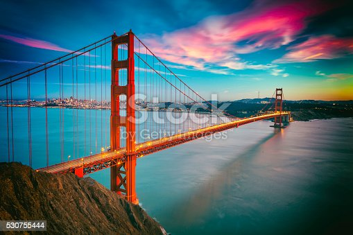 530755444 istock photo San Francisco with the Golden Gate bridge 530755444