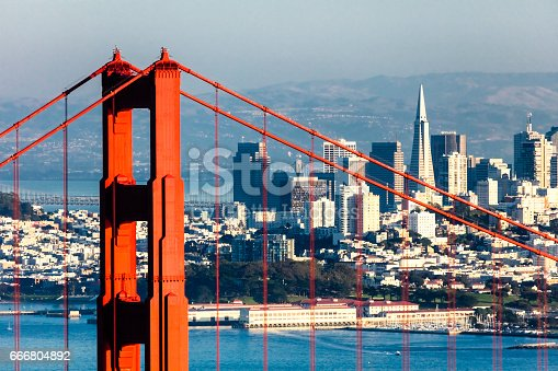 530755444 istock photo San Francisco with the Golden Gate bridge 666804892