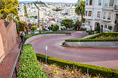 View from the top of Lombard street-San Francisco-California