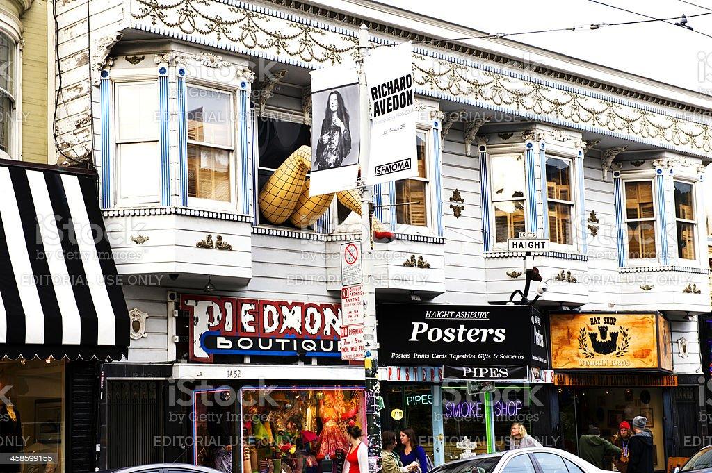 San Franciscos Haight Ashbury stock photo