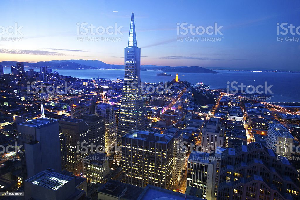 San Franscisco Lights royalty-free stock photo