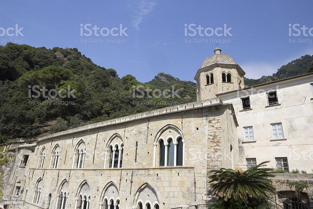 San Fruttuoso in the Riviera di Levante, Italy royalty-free stock photo
