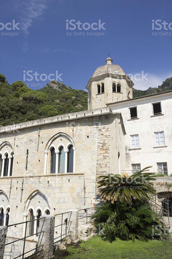 San Fruttuoso on the Riviera di Levante, Italy royalty-free stock photo