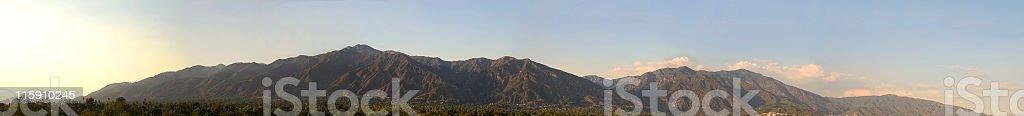 San Gabriel Mountains panorama stock photo
