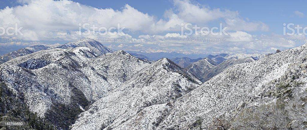 San Gabriel Mountains stock photo