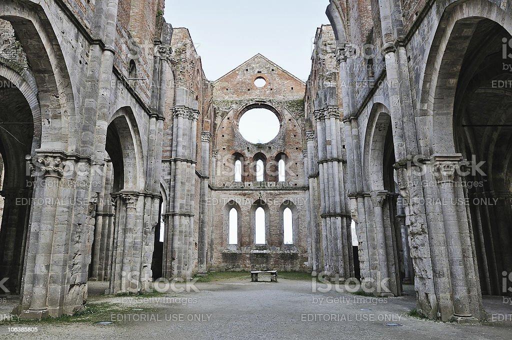 San Galgano Abbey stock photo