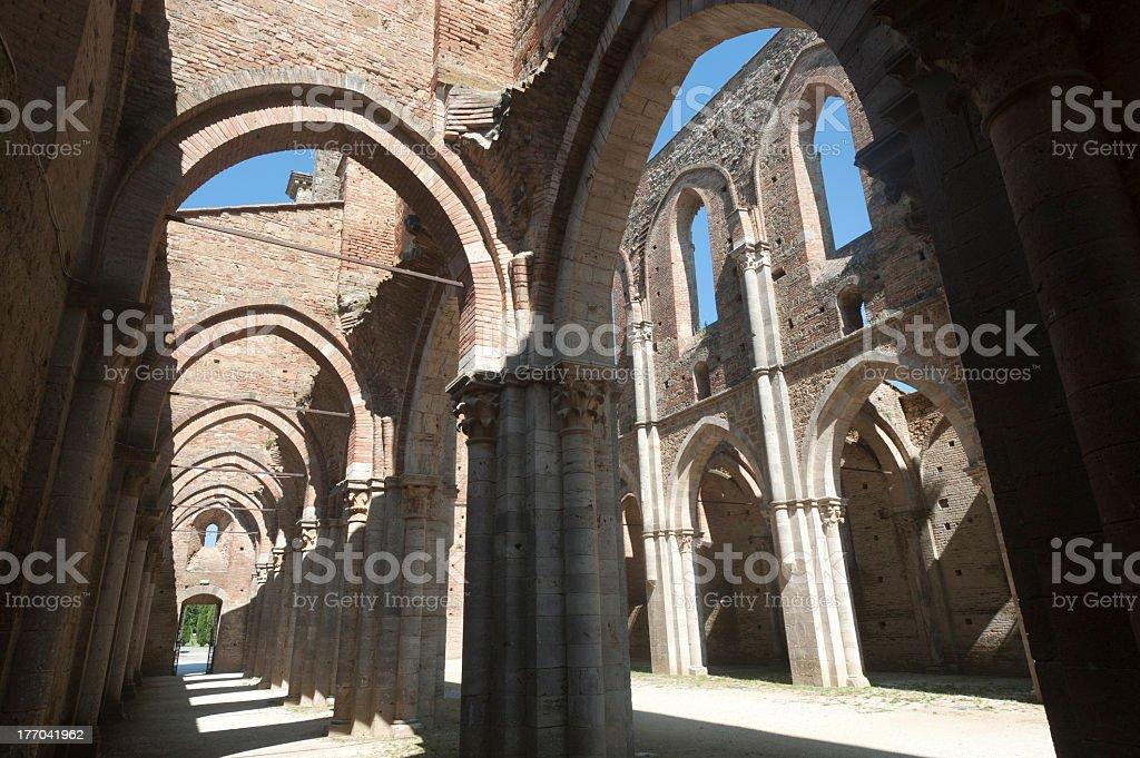 San Galgano (Siena, Tuscany, Italy) stock photo
