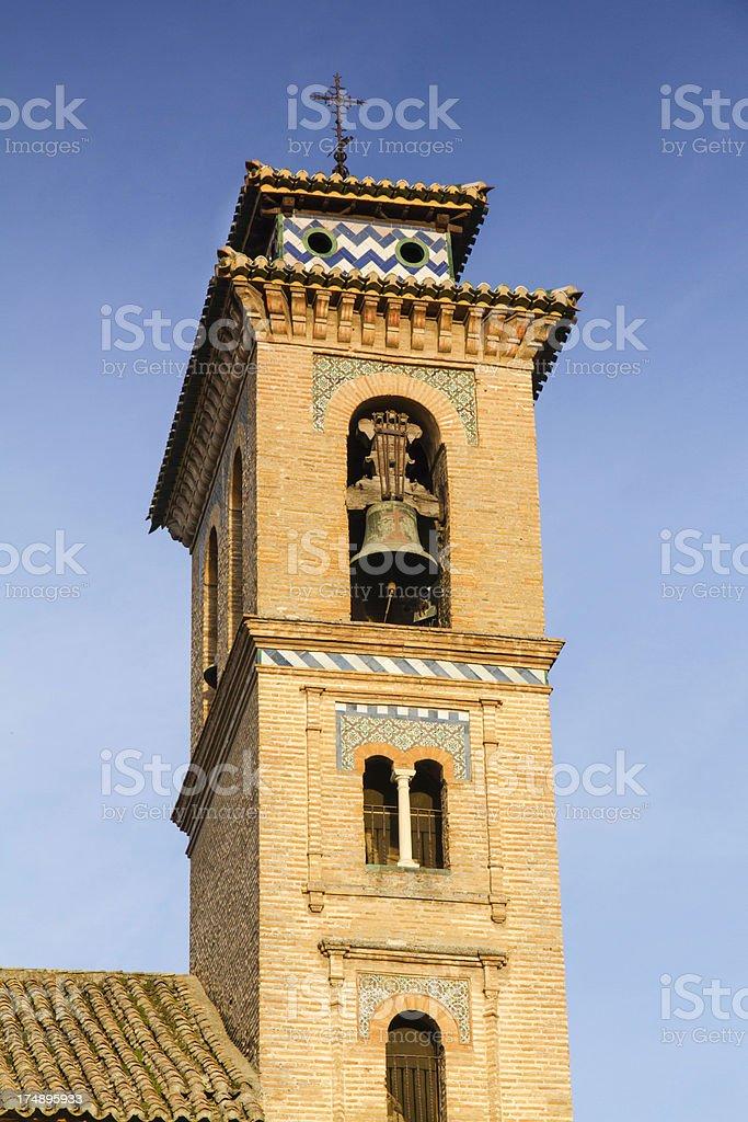 San Gil y Santa Ana Church in Granada stock photo