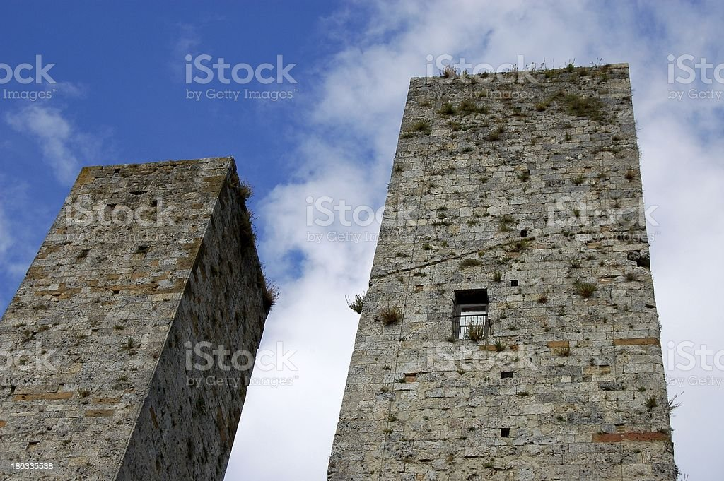 San Gimignano House Towers stock photo