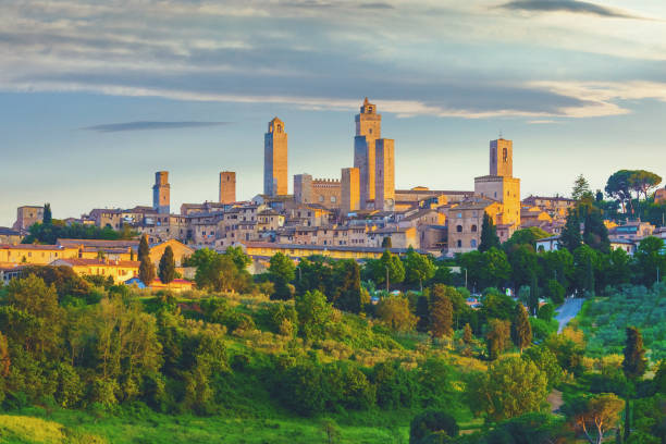 San Gimignano in Tuscany, Italy stock photo