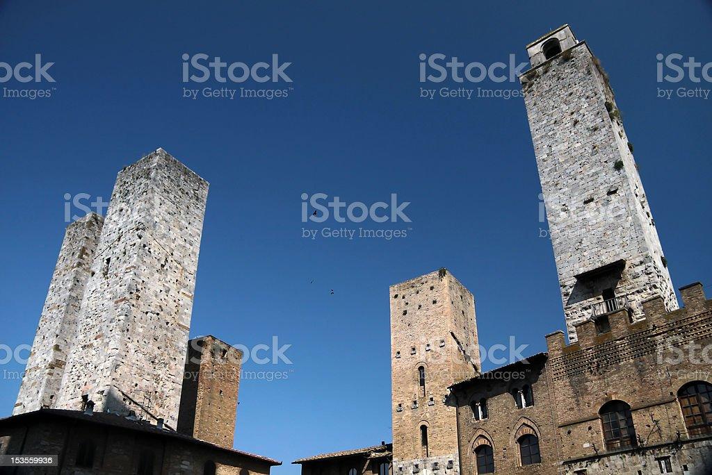 San Gimignano in Tuscany, Italy stock photo