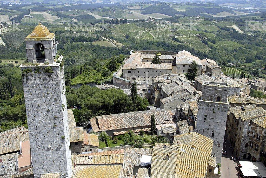 San Gimignano in Tuscany Italy stock photo