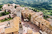 San Gimignano is a medieval town in Tuscany