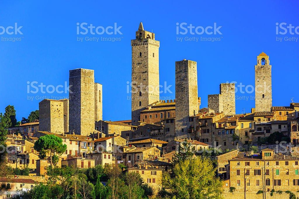 San Gimignano, Italy. stock photo
