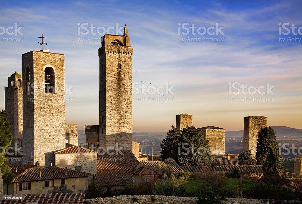 San Gimignano skyline stock photo