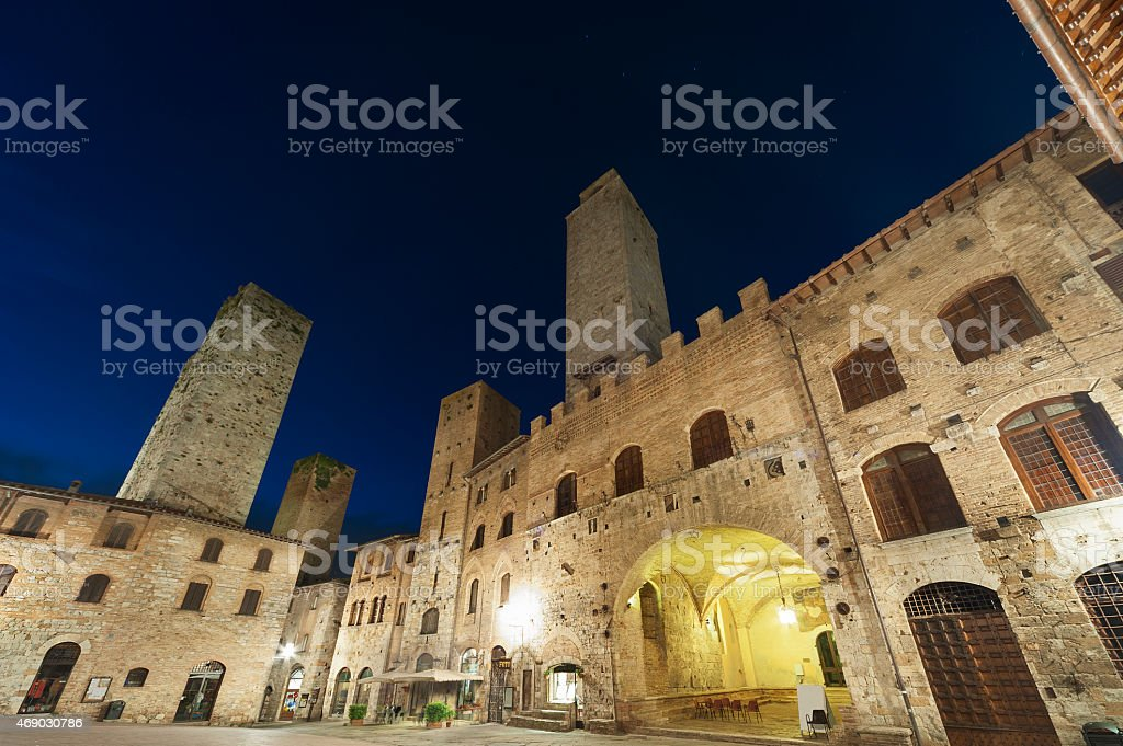 San Gimignano, Tuscany, Italy, stock photo