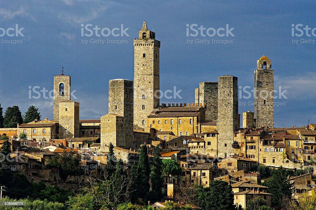 San Gimignano, Tuscany, Italy. stock photo