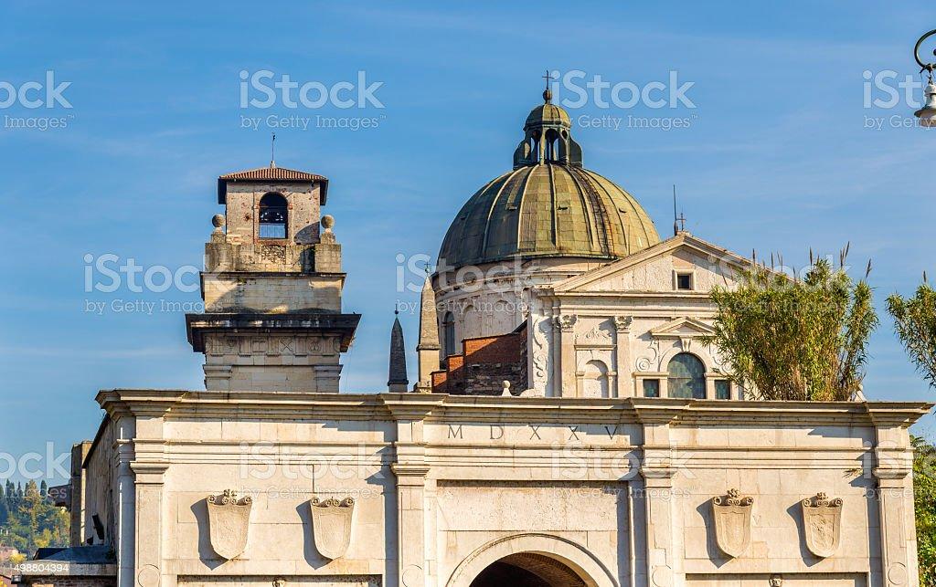 San Giorgio in Braida church - Verona stock photo