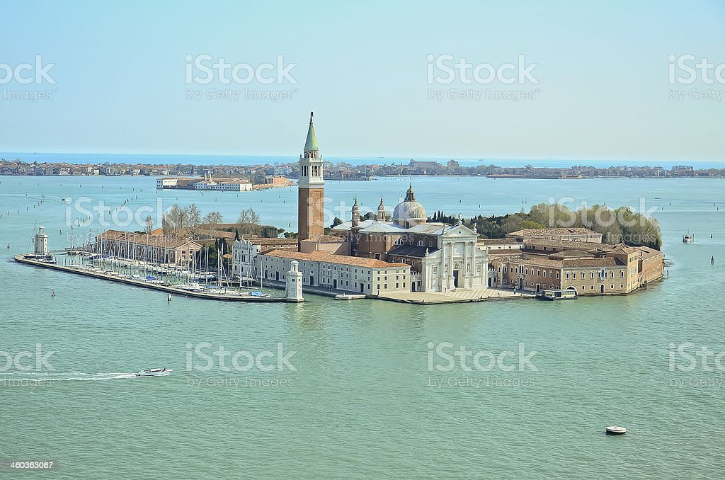 San Giorgio island, Venice, Italy royalty-free stock photo
