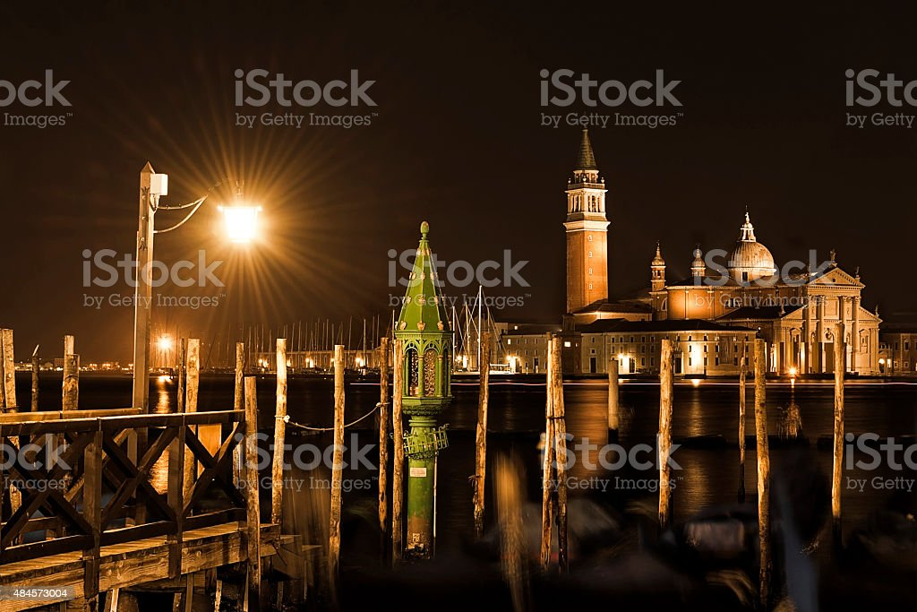 San Giorgio Maggiore at night stock photo