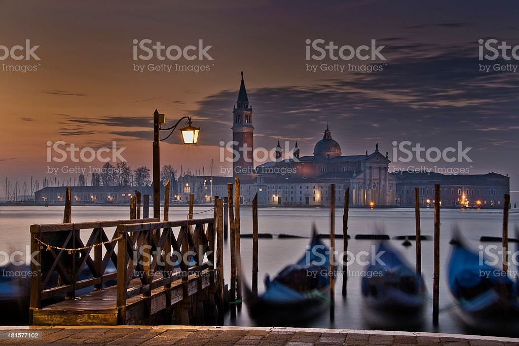 San Giorgio Maggiore at night royalty-free stock photo