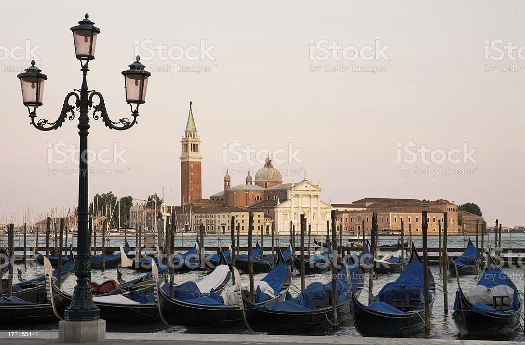 San Giorgio Maggiore in Venice Viewed from St. Mark's Square royalty-free stock photo