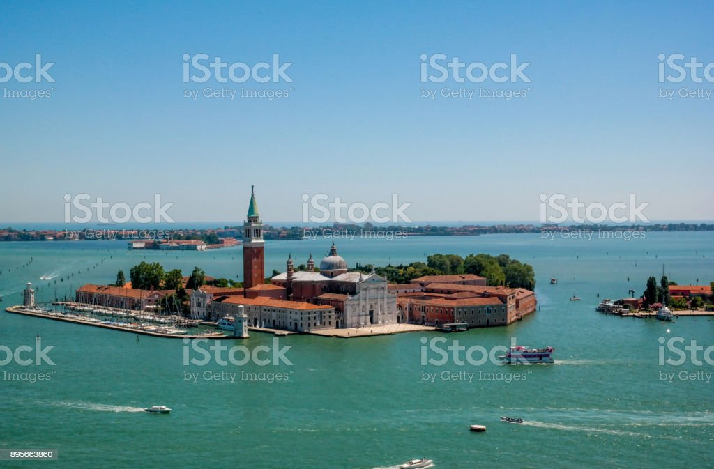 San Giorgio Maggiore's island from Venice stock photo