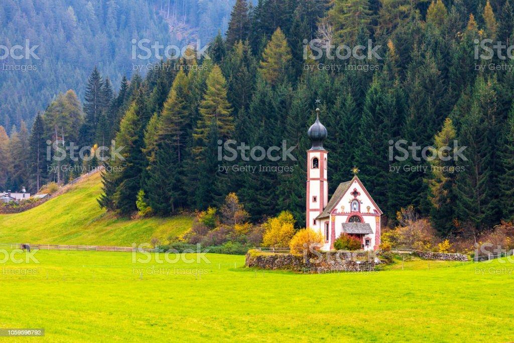 San Giovani church in South Tyrol stock photo